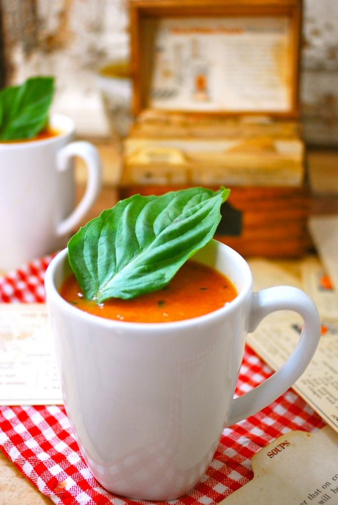 My favorite comfort food! This is the best non-dairy tomato soup recipe out there. Made with fresh tomatoes. Vegan, gluten free, paleo.