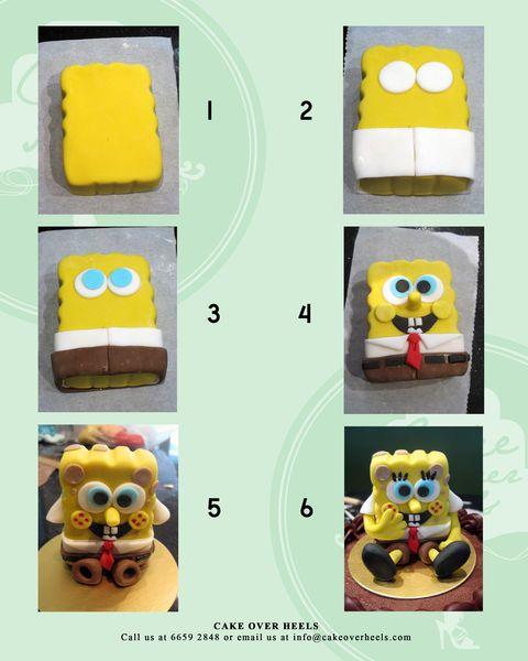 Spongebob Figurine Tutorial - by Nicholas Ang @ CakesDecor.com - cake decorating website