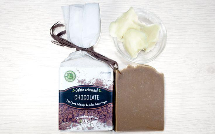 Jabón artesanal de chocolate. Ideal para todo tipo de pieles. Antiarrugas.