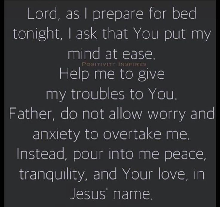 Nighttime prayer