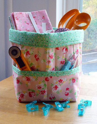 Fabric Storage Caddy | by Just Jude Designs