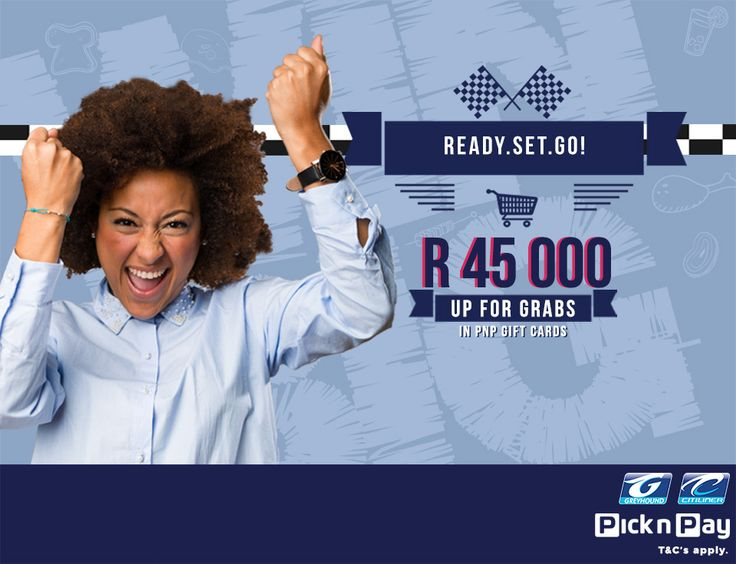 Attention all shoppers, stand a chance to win BIG with Greyhound and Pick n Pay! Book your Greyhound ticket at a participating Pick n Pay store and stand a chance to win your share of R45 000 in shopping vouchers! How to enter: - Book your Greyhound bus ticket at a participating Pick n Pay store - SMS your name, surname and ticket reference along with the keyword 'PICK' to 45211 Book today! T & C's Apply https://www.greyhound.co.za/amazing-race-competition-tc-pick-n-pay/ Entries close 31…