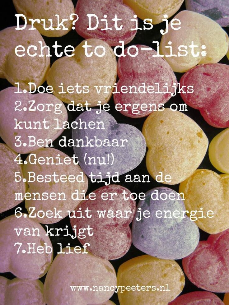 Echte to do list