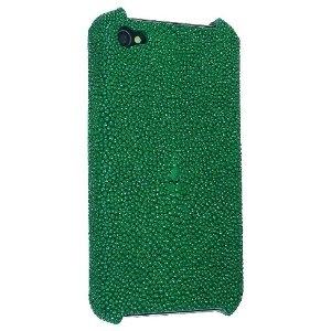 Shagreen iPhone case in Emerald Green