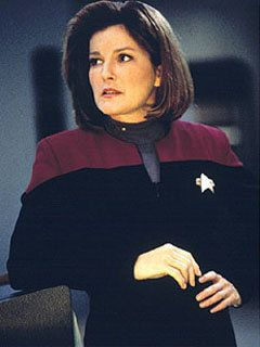 Captain Kathryn Janeway / Kate Mulgrew (Star Trek: Voyager). She was awsome, loved Voyager...                                                                                                                                                      More
