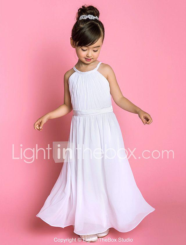 9 best vestido largo niña images on Pinterest | A line, Chiffon and ...