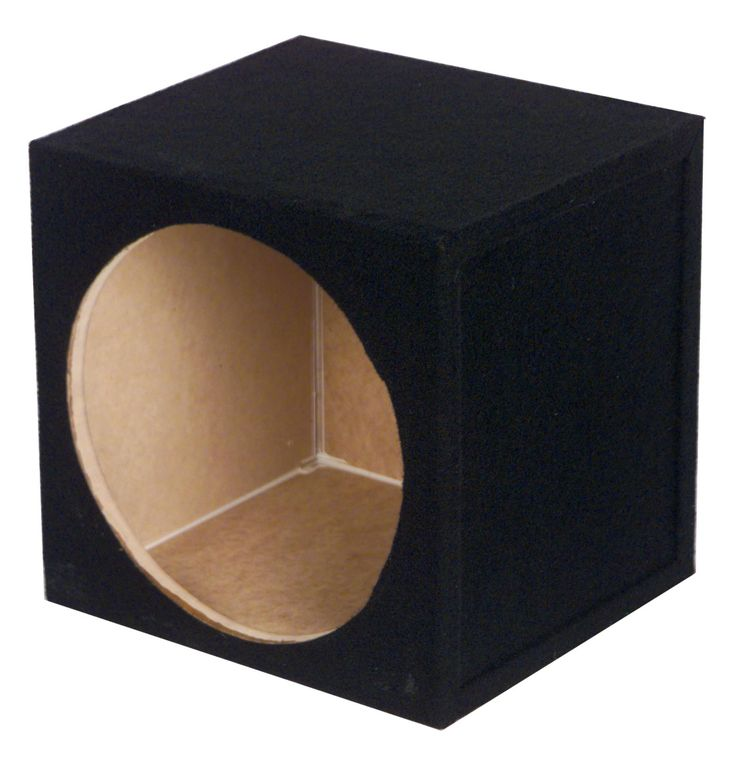 "Q Power Q-Power 10"" Single Sealed Subwoofer Box / 12 x 12 x 12 SOLO10-1HOLE,    #Q Power 8-Inch Subwoofers"