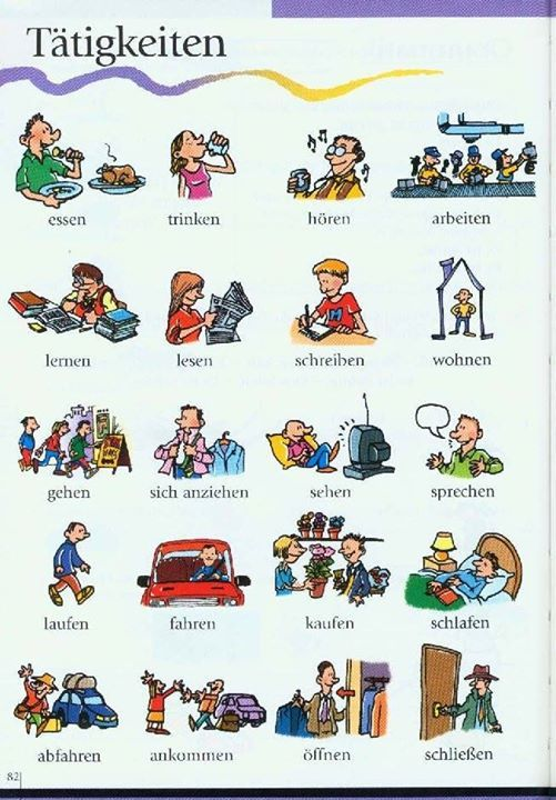 Se usa la lectura y la imagen para el aprendizaje de otra lengua (leer - reden auf Deutsch)