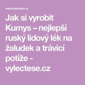 Jak si vyrobit Kumys – nejlepší ruský lidový lék na žaludek a trávicí potíže - vylectese.cz