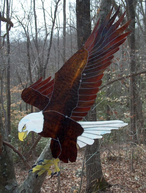 Bald Eagle Fishing done in lead free Stained Glass by rickeykrause, $95.00