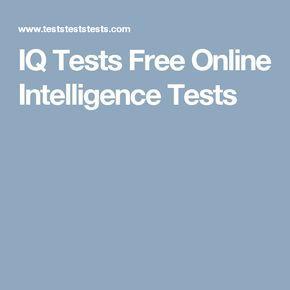 IQ Tests Free Online Intelligence Tests