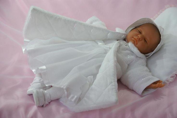 * Do chrztu ubranko sukienka KlaraB i płaszczyk 68