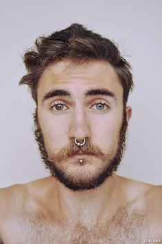 septum piercing men - Google Search