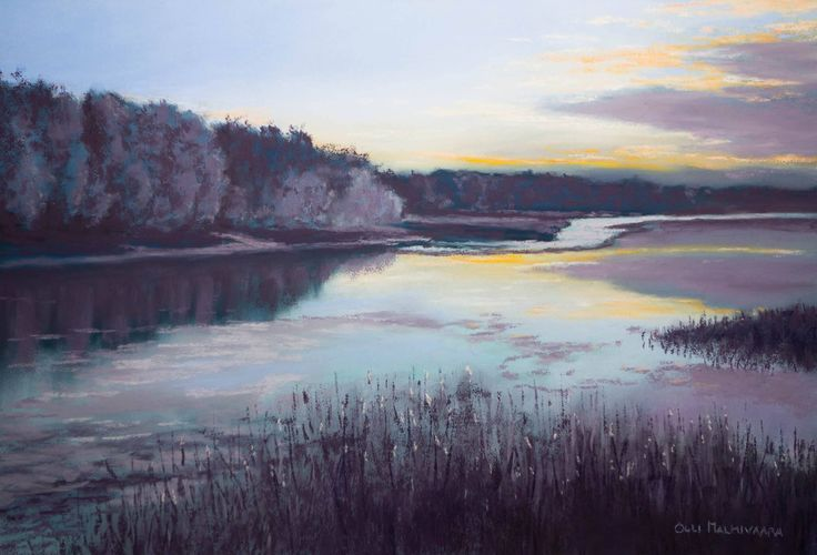 Frosty Morning by Olli Malmivaara Soft pastel on Mi-Teintes Touch paper 26 x 38 cm