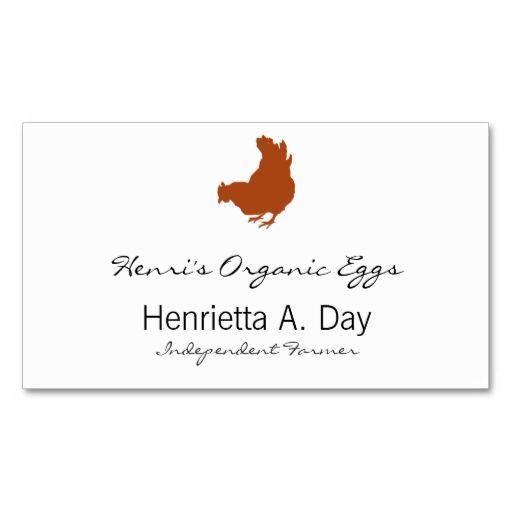 961 best farmer business cards images on pinterest business cards hen chicken farmer organic eggs business card reheart Images