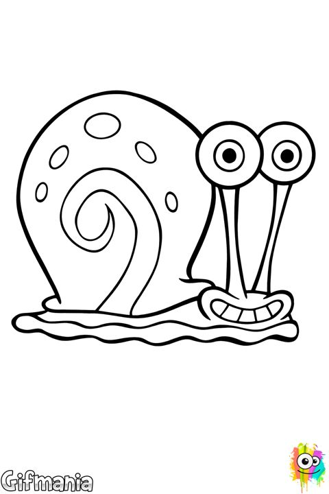 Sea snail coloring pages