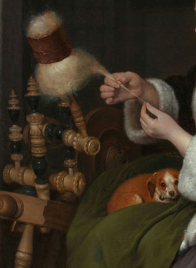 The Spinner - Gerard ter Borch the Younger - 1650-1659