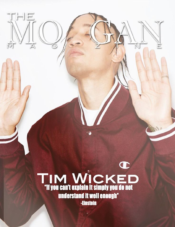 The Morgan Magazine Issue #9  Cover with Tim Wicked Featuring Project Runway Junior Samantha & Upcoming Artist Owsin Benjamin