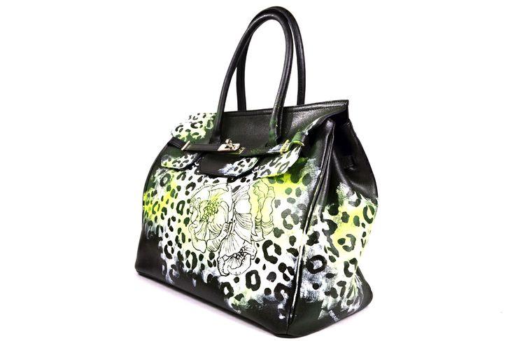 Borse Artigianali Tessuto : Best images about borse di pelle dipinte a mano on