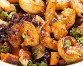 Sauté Croq'Kilos de crevettes au citron, carottes et brocoli