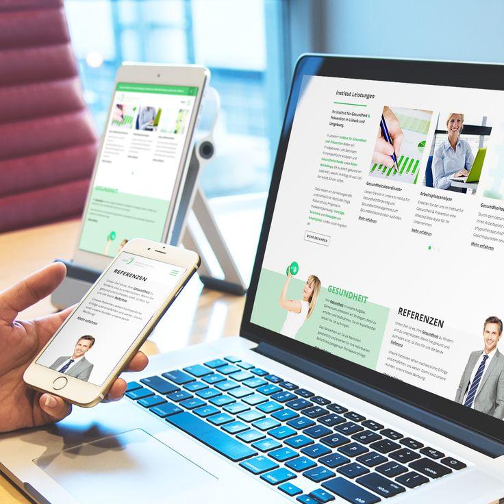 Responsive Webdesign - Institut für #Gesundheitsförderung und betriebliches #Gesundheitsmanagement Lübeck - http://www.gesundheitsfoerderung-luebeck.de #ResponsiveWebdesign #WerbeagenturLübeck