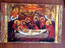 Lamentation of Christ - handmade Greek orthodox Russian byzantine icon