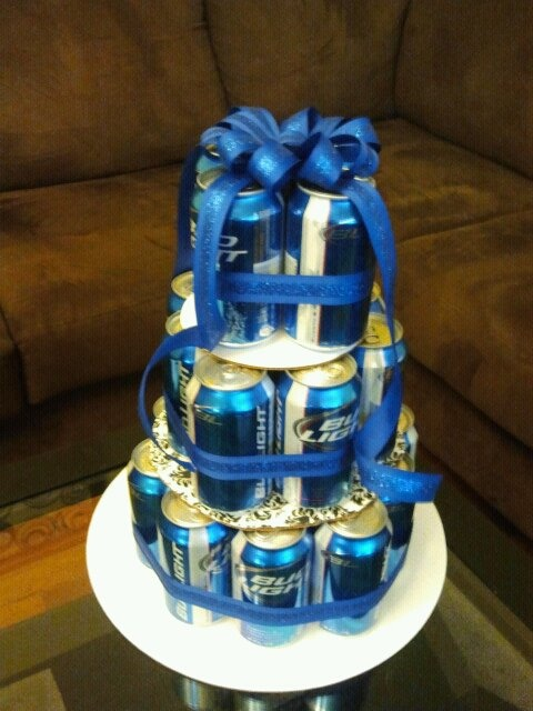 Birthday Cake With Beer Cans