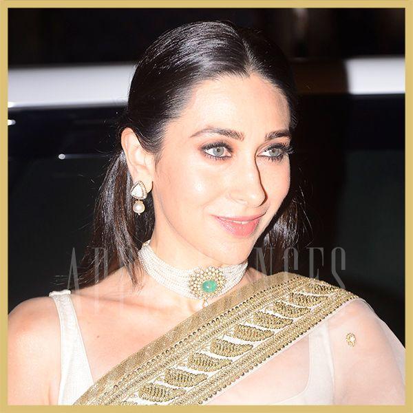 Karisma Kapoor in white sheer Sabyasachi saree at the Rotary Club Award event, Appearances