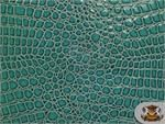 Vinyl Crocodile DARK TURQUOISE Fake Leather Upholstery Fabric By the Yard