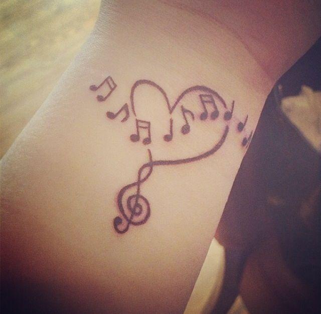 Cute Music Notes Tattoos