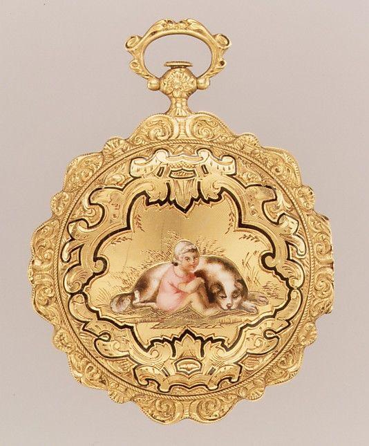 Watch  Watchmaker: de Choudens  (recorded 1828–31)    Date:      ca. 1835  Culture:      Swiss (Geneva)  Medium:      Gold, enamel, silver  Dimensions:      Diam. 1-5/8 in. (4.1 cm)  Classification:      Horology