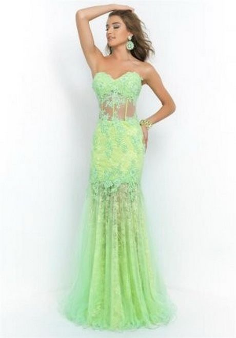 Lime green formal dresses