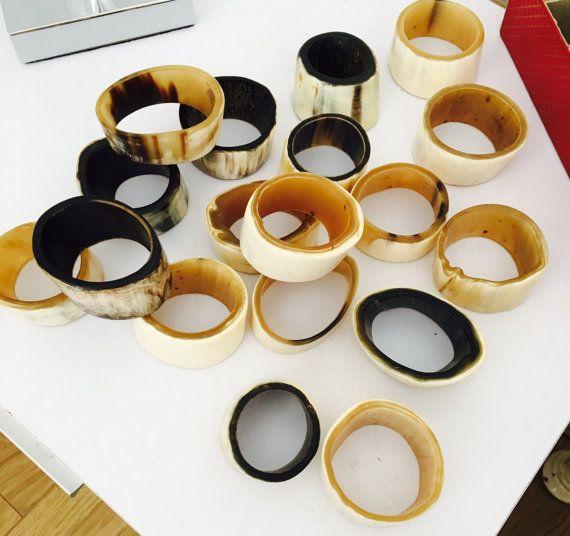 Horn napkin rings