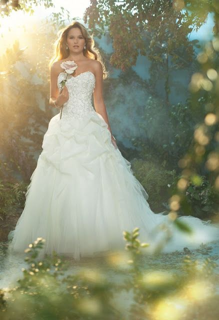 The 2013 Alfred Angelo Disney Fairy Tale Wedding Gowns....the Rapunzel and Ariel gowns are super pretty :)