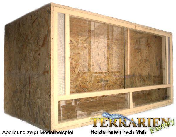 OSB Holz Terrarium 120x60x60 cm von Terrarien Factory