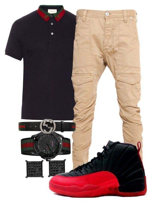 """Acapella- Young Pappy"" by crenshaw-m4fia ❤ liked on Polyvore featuring Gucci, men's fashion and menswear"