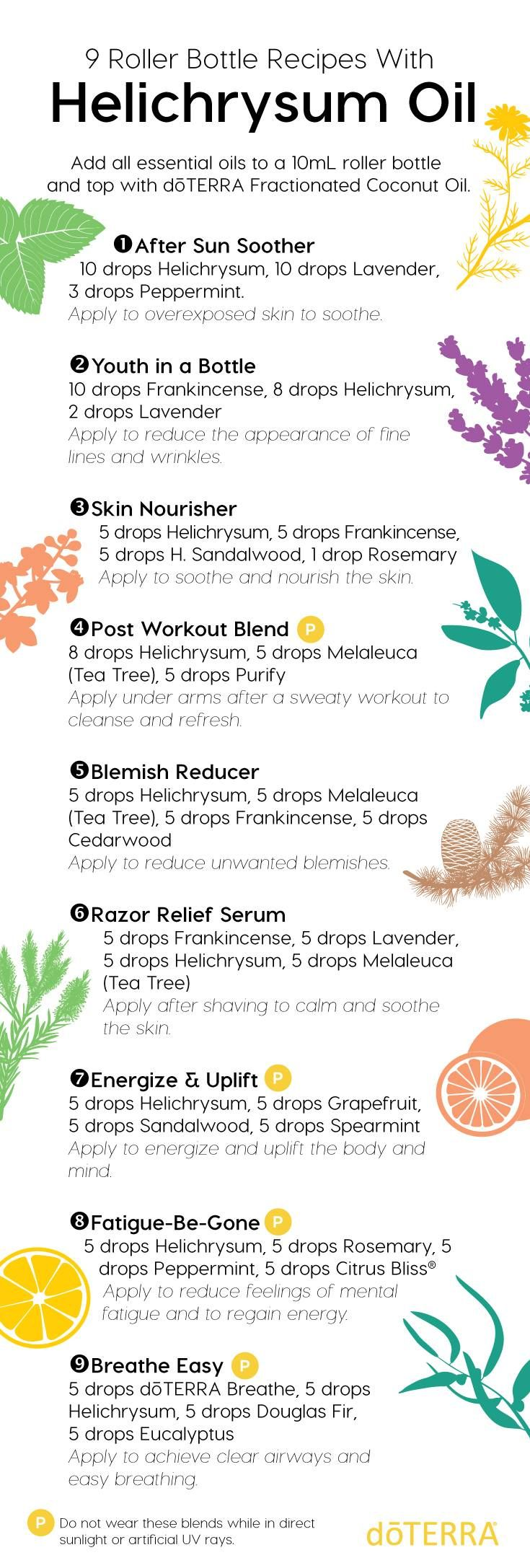 Create your own DIY Roller Bottle Recipes with Helichrysum! Which one will you try today?