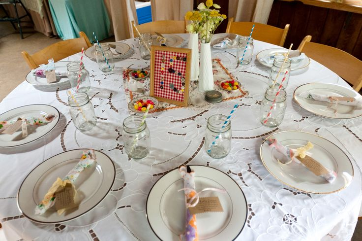 Wedding Reception Ideas Vintage Mismatched Wedding