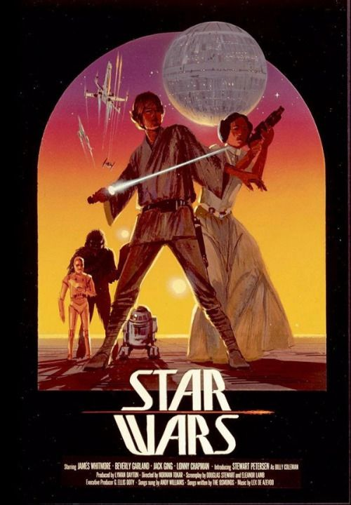 Early Ralph McQuarrie Star Wars poster art
