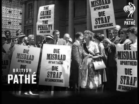 Dr. Verwoerd Arrives Home & Anti-Apartheid Demonstrations (1961)