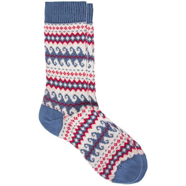 Hj Hall Wave Fair Isle Socks ($6.26) found on Polyvore featuring mens, men's clothing and men's socks
