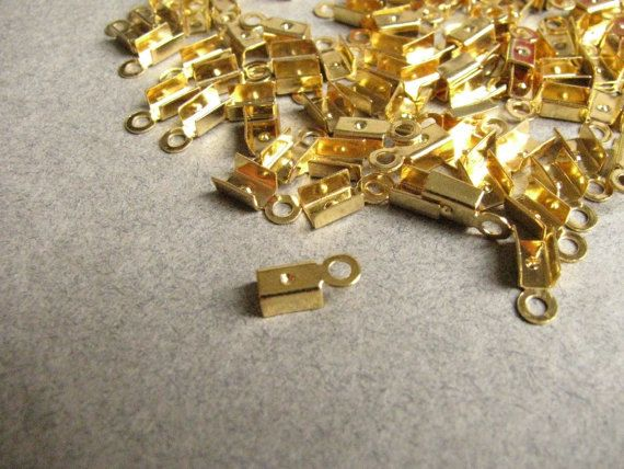 3.5 mm #Crimp #Head  Gold Plated http://etsy.me/1LyJTnd #jewelry #mount #brass #jewel #gem #bezel #setting #goldplated #gold #24k