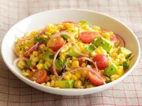Raw vegan summer salad w- corn +tomato | raw food recipes for beginners