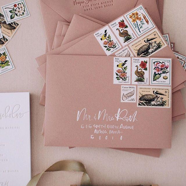 V I N T A G E S T A M P S A Fabulous Fete Vintage Stamps Wedding Invitation Wedding Invitation Postage Wedding Invitation Envelopes