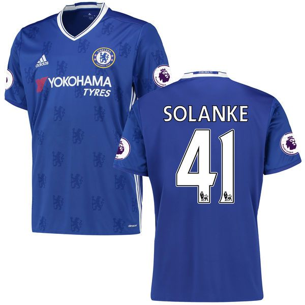 Dominic Solanke Chelsea adidas 2016/17 Home EPL Badge Replica Jersey - Blue - $86.24