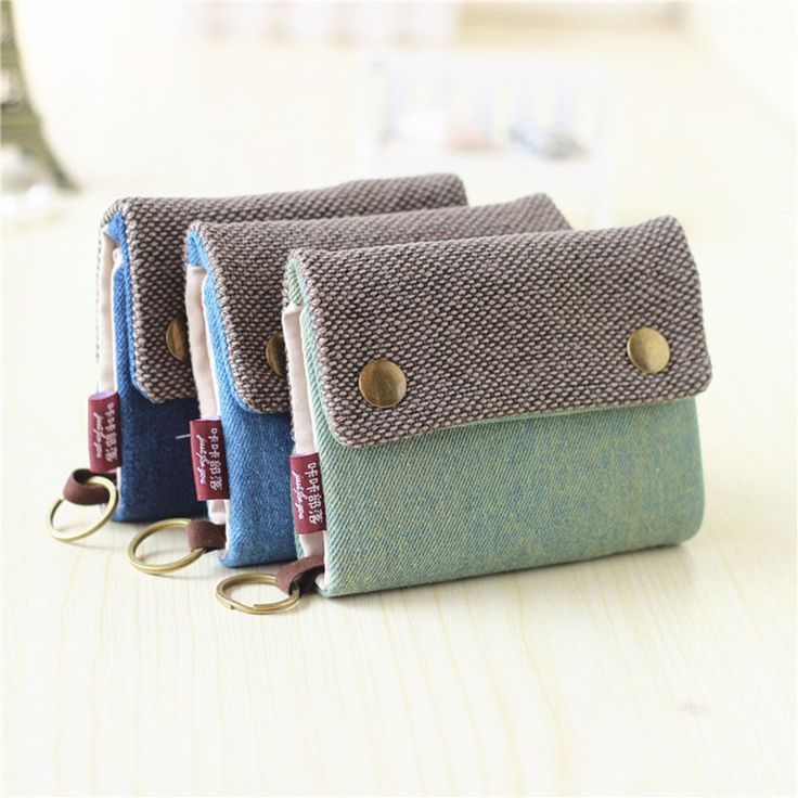 Unisex Men Women's ► Three Layer Folded Manual Canvas ๏ Wallet Bag With Multi Card Holder,Boy Girl's Denim Multifunction Coin PurseUnisex Men Women's Three Layer Folded Manual Canvas Wallet Bag With Multi Card Holder,Boy Girl's Denim Multifunction Coin Purse