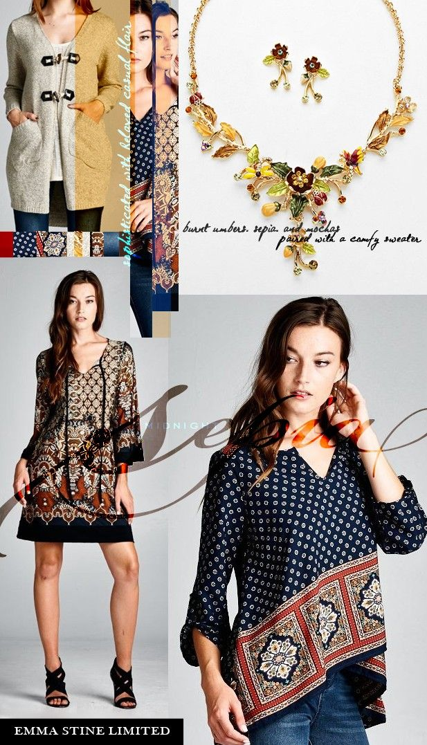 Surround yourself with amazing Fall fashion from Emma Stine Limited :)