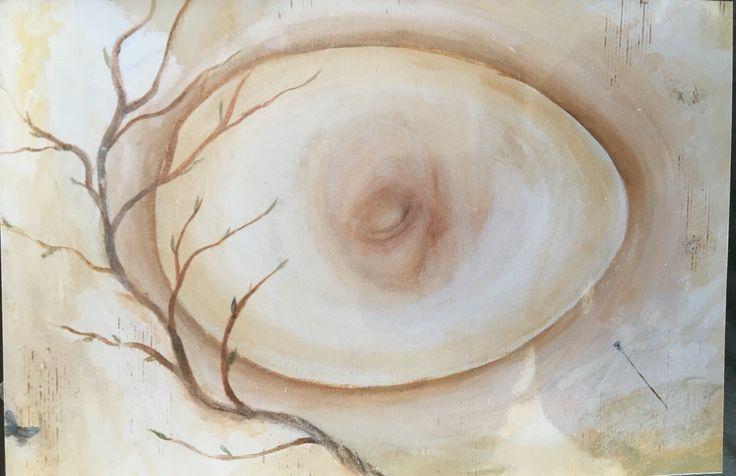 Acrylic painting ( 2001 ) by Birgitte Miljeteig