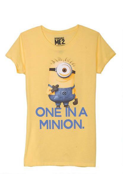 Tee shirt Design: One in a minion   Despicable Me 2 Shirt