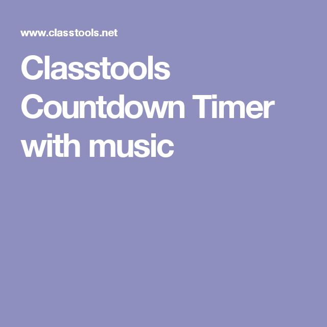 Classtools Countdown Timer with music